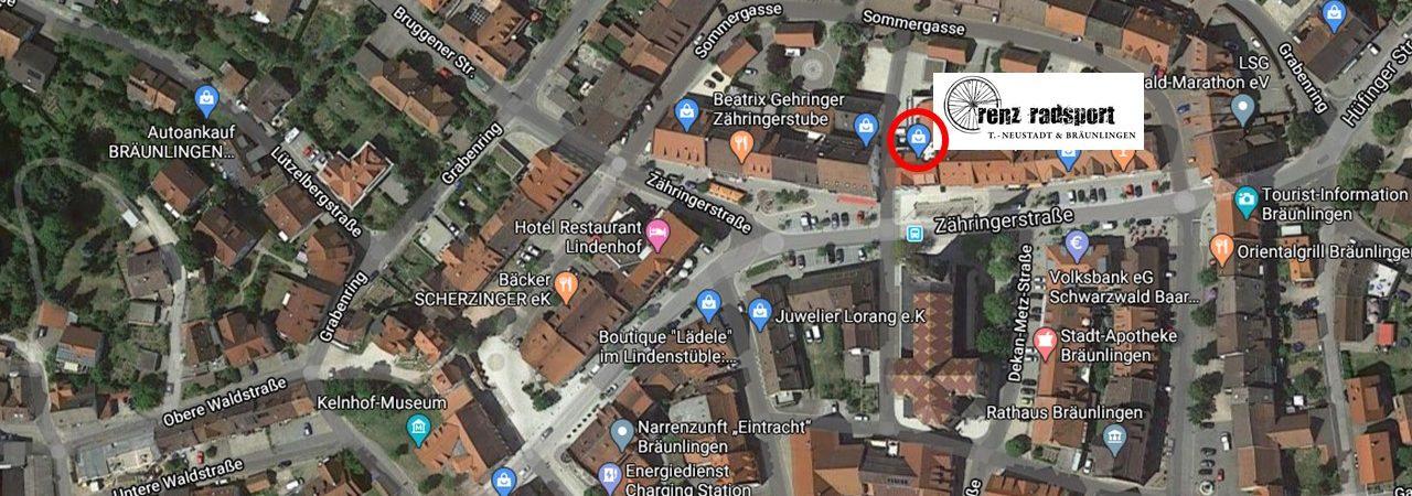 Karte Standort_Renz Radsport Bräunlingen