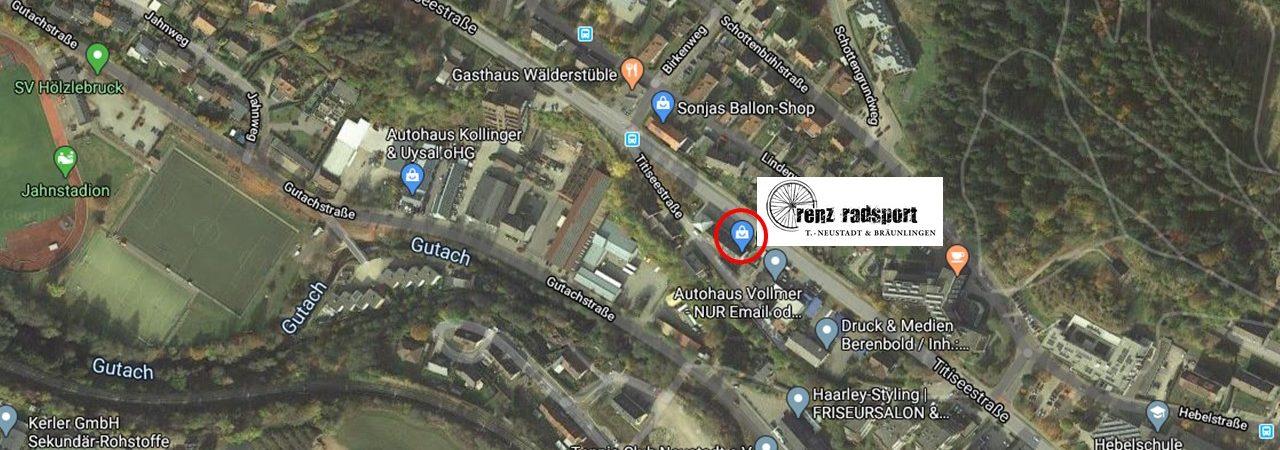 Karte Standort_Renz Radsport Titisee-Neustadt_Titiseestraße 57_1